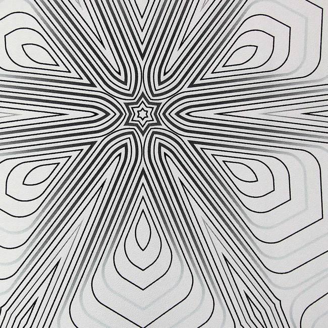 White, Black, and Grey Geometric
