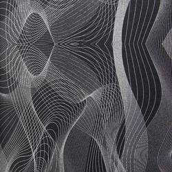 Black and Silver Abstract Waves