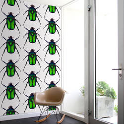 Beetle, Green - Wallpaper Tiles