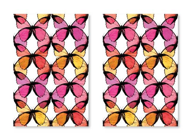 Layered Butterfly, Fruit Punch - Wallpaper Tiles