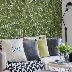 Fern, Green - Wallpaper Tiles