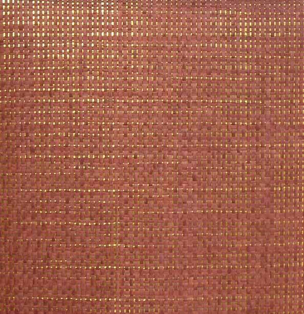 Burnt Red Paper Weave on Gold - WND205