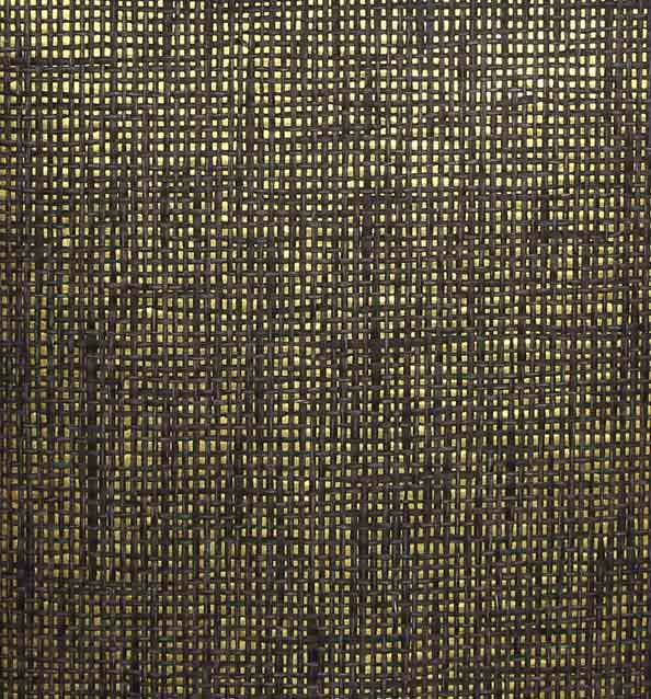 Black and Grey Paper Weave on Gold - WND207