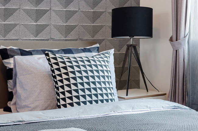 Cinderblock Chevron - Gray