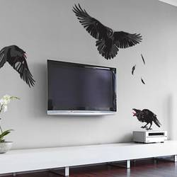 Midnight Ravens   Halloween Wall Decal