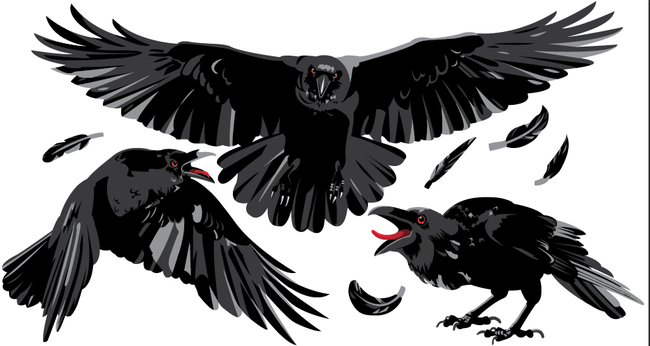 Midnight Ravens - Halloween Wall Decal
