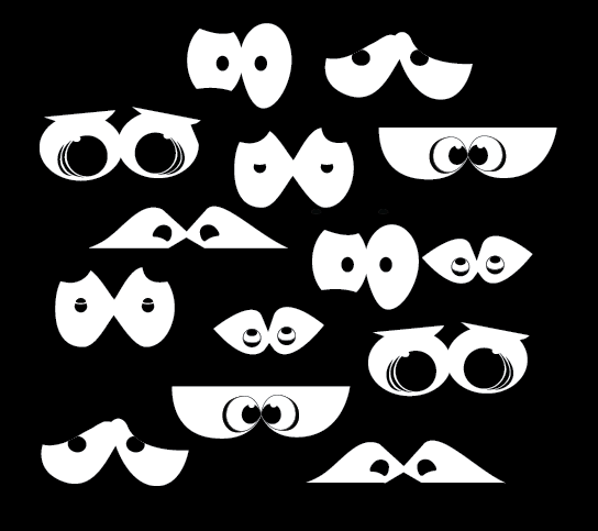 Sneaky Eyes - Halloween Wall Decal
