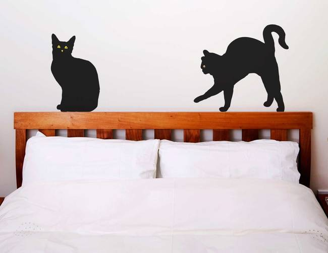 Superstitious Felines - Halloween Wall Decal
