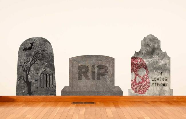 Tombstone Trio - Halloween Wall Decal