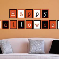 happy halloween halloween wall decal