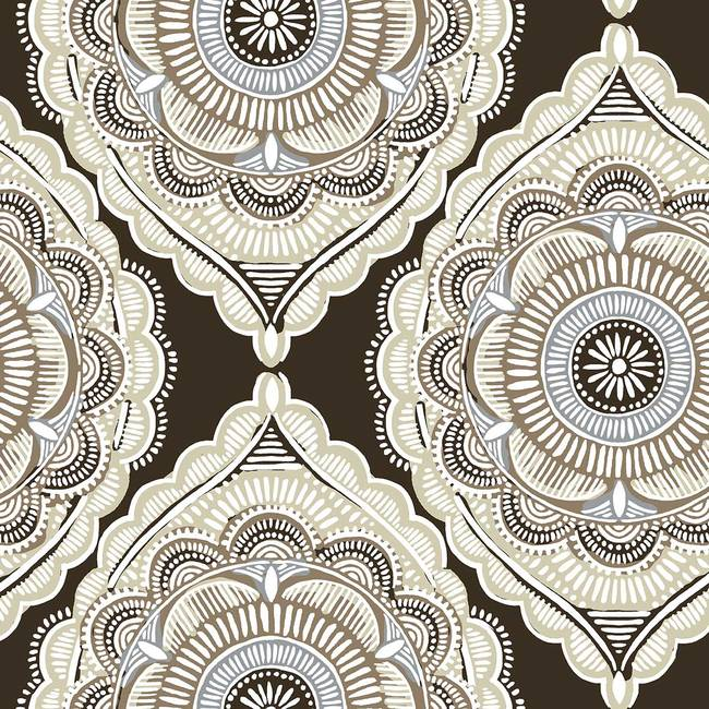 Gypsy, Umber - Wallpaper Tiles