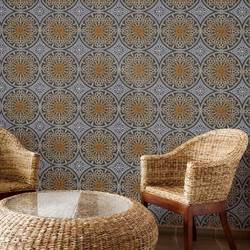 Tatted Lace, Aged Copper - Wallpaper Tiles