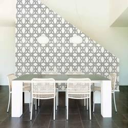 Lattice, Gunmetal - Wallpaper Tiles