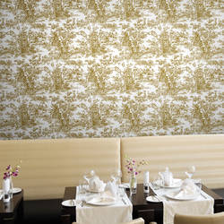 Peacock, Gold - Wallpaper Tiles