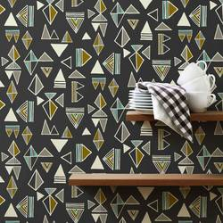 Tom Tom, Slate - Wallpaper Tiles