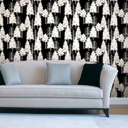 Woodland, Ebony - Wallpaper Tiles