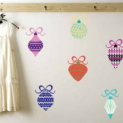 Holiday Ornaments - Christmas Wall Decal