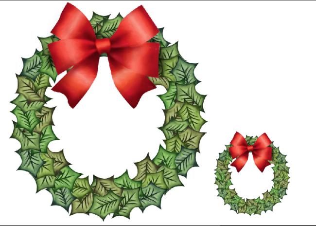Holiday Wreath - Christmas Wall Decal