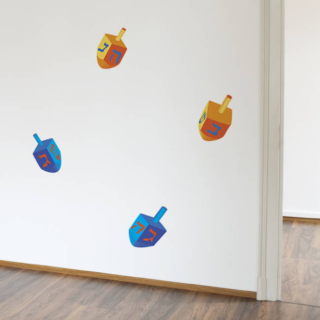 Small Dreidel - Hanukkah Wall Decal