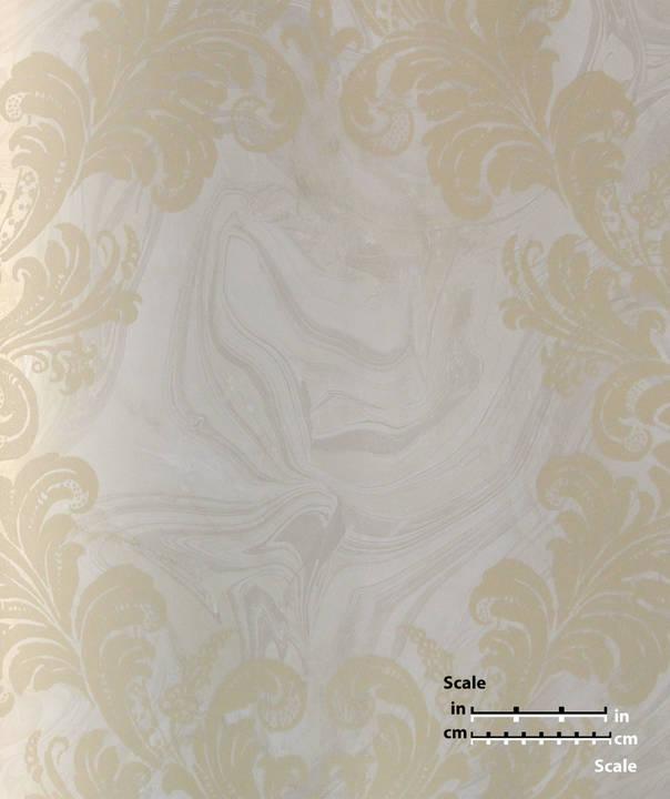 Beige Flower On Cream Woodgrain