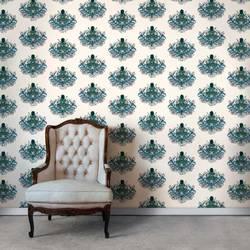 Bouquet, Cream - Wallpaper Tiles