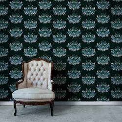 Bouquet, Dark Green - Wallpaper Tiles