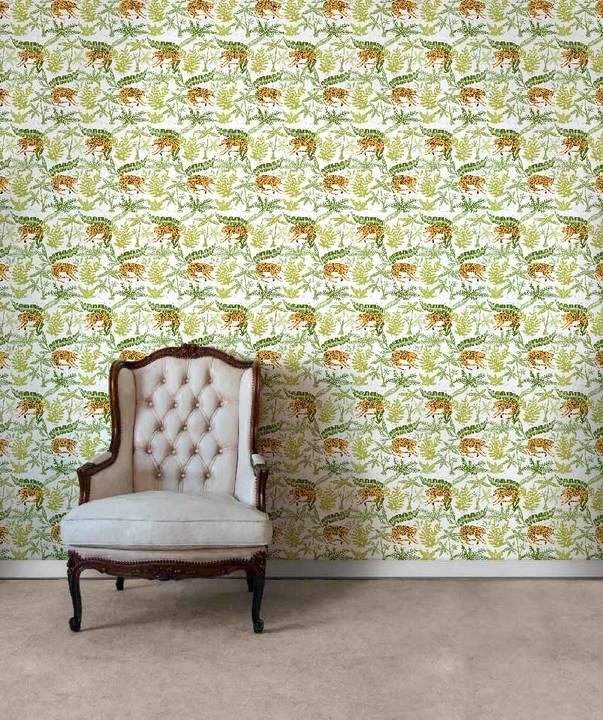 Jaguars In Brush, Day - Wallpaper Tiles