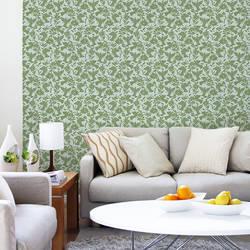 Pájaros, Green - Wallpaper Tiles