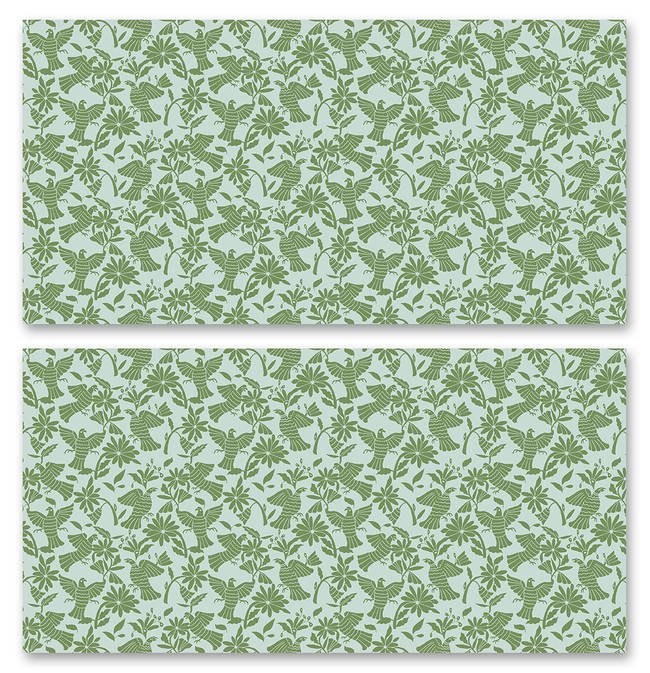 Pájaros, Green - Wallpaper Tiles