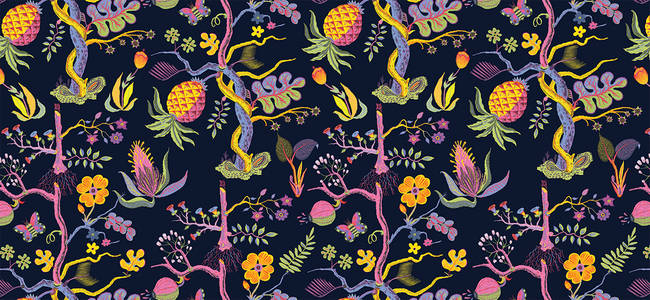 Pineapple - Wallpaper Tiles