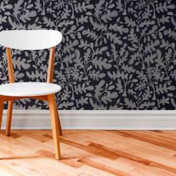 Wild Growth, Dark - Wallpaper Tiles
