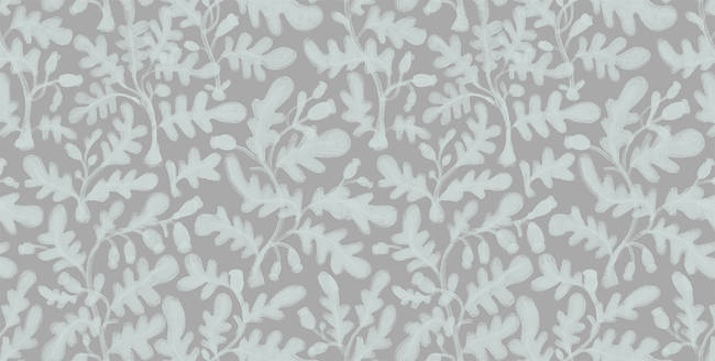 Wild Growth, Gray - Wallpaper Tiles