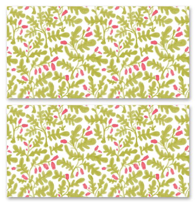 Wild Growth, Poppy - Wallpaper Tiles