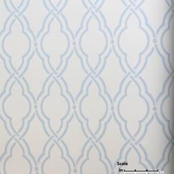 Light Blue White EG1264 St. Regis Collection