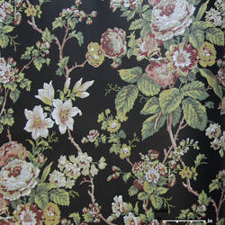 Black Green Floral EG1290 St. Regis Collection