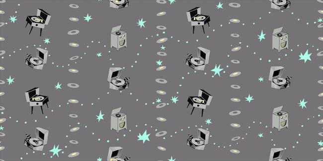 Jumpin' Jive - Night - Silver Canvas