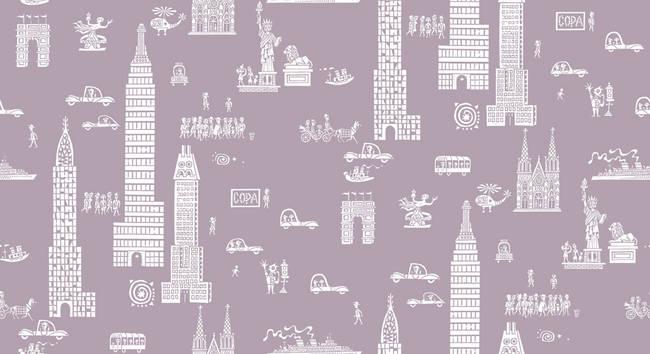 Manhattan - Dove Grey - Pearl Canvas
