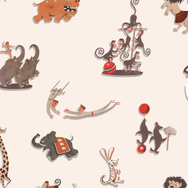 Circus - Jim Flora Wallpaper Tiles