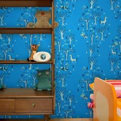 Forest Picnic, Midsummer Night - Jim Flora Wallpaper Tiles
