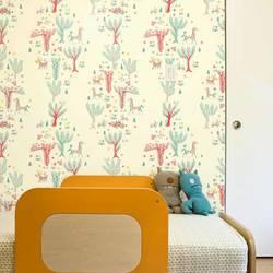 Forest Picnic, Day - Jim Flora Wallpaper Tiles