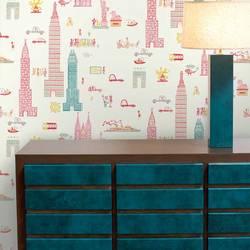 Manhattan, Day - Jim Flora Wallpaper Tiles