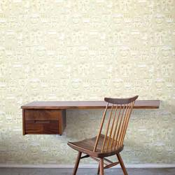 Mardis Gras, Sandstone - Jim Flora Wallpaper Tiles