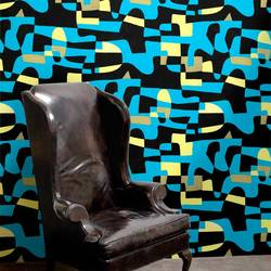 Shapeshifter, Blue Sky - Jim Flora Wallpaper Tiles