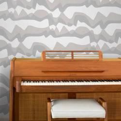 Subterranean Mountains, Grey - Jim Flora Wallpaper Tiles
