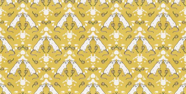 Mouse Damask - Wallpaper Tiles