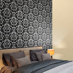Heritage Damask, Licorice - Wallpaper Tiles