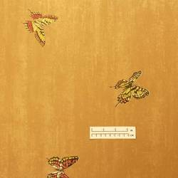 Traditional golden butterfly wallpaper: OL-5410