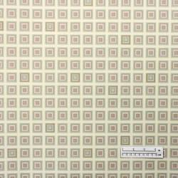 Tan square tiled wallpaper: BM-9094
