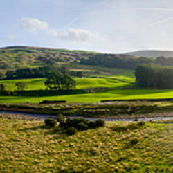 River in a valley, Mellor Knoll, Totridge Fell, Trough Of Bowland, Forest Of Bowland, Lancashire, England