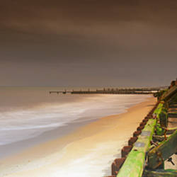 Sea defences on the beach, Happisburgh Beach, Happisburgh, Norfolk, England